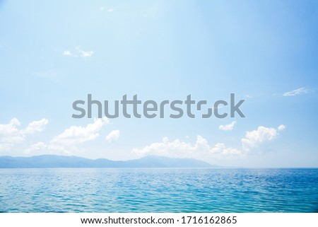 Splendid seascape of the calm Adriatic Sea. Location place of Dalmatia region, Balkans, Croatia, Europe. Scenic image of popular european health resort. Discover the beauty of earth. #1716162865