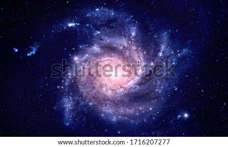 Galaxy - Elements of this Image Furnished by NASA Royalty-Free Stock Photo #1716207277