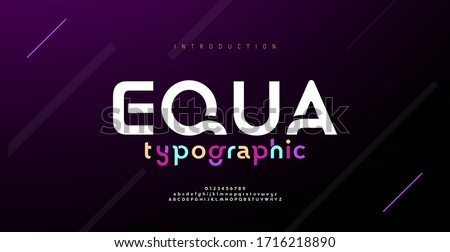 Modern minimal abstract alphabet fonts. Typography technology, electronic, movie, digital, music, future, logo creative font. vector illustration #1716218890