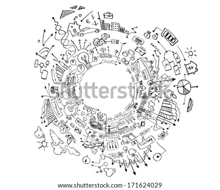 Background image with hand drawings and sketches #171624029