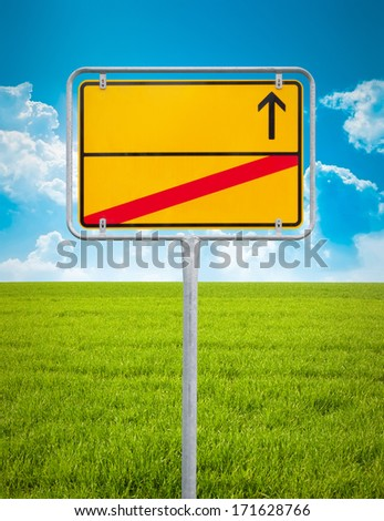 An image of a typical german city sign