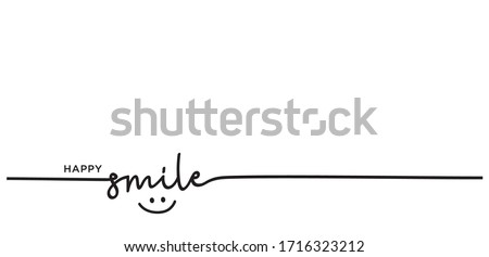 Slogan happy smile vector design, inspiration message moment smile. vector of happy smile. motivation with happy smile. Royalty-Free Stock Photo #1716323212