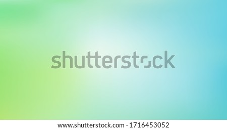 Light Blue, Green vector blurred background. Colorful illustration in abstract style with gradient. Elegant background for a brand book. Ecology concept for your graphic design, banner or poster Royalty-Free Stock Photo #1716453052