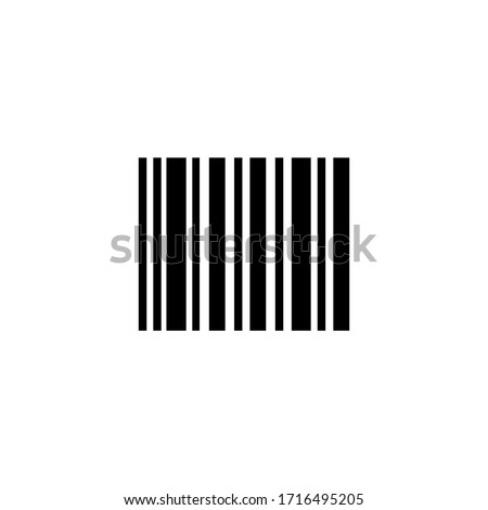 Barcode icon vector illustration isolated on white background.