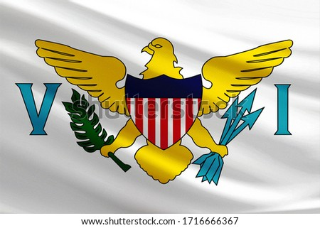 U.S. Virgin Islands flag with fabric texture #1716666367