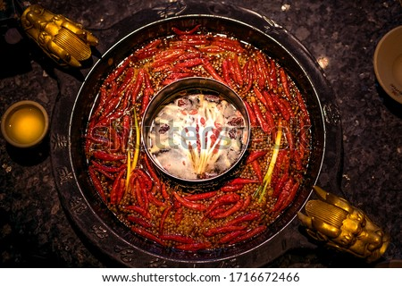 Sichuan hot pot is famous for its spicy, fresh and fragrant. Sichuan hot pot is famous in China. As a delicacy, hot pot has become a representative delicacy in Sichuan and Chongqing. #1716672466
