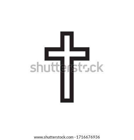 Christian Cross Icon In Trendy  Design Vector Eps 10
