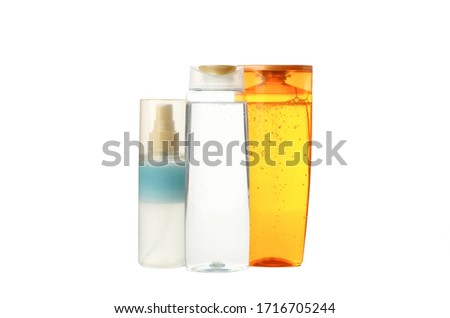 Blank bottles for cosmetics isolated on white background #1716705244