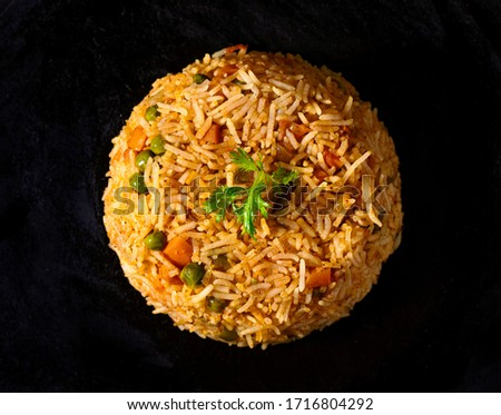 Tava pulao is a Mumbai version of pulao made with rice and freshly chopped vegetables #1716804292