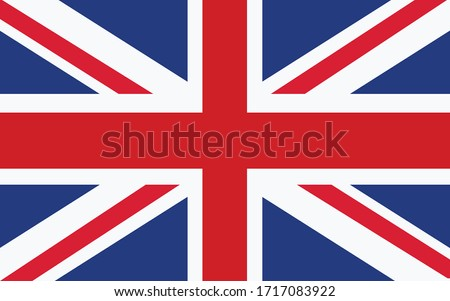 United Kingdom flag vector graphic. Rectangle British flag illustration. United Kingdom country flag is a symbol of freedom, patriotism and independence. #1717083922