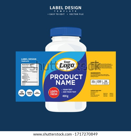 Bottle label, Package template design, Label design, mock up design label template Label design, Editable file, high quality, clean, creative, easy to edit, Vector template  #1717270849