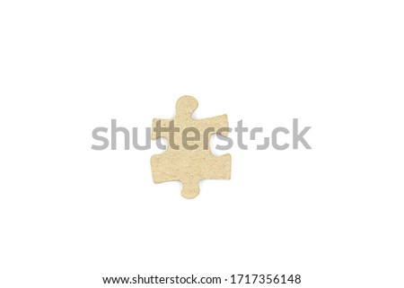 jigsaw pieces on the white background.Concept of cooperation, coordination #1717356148