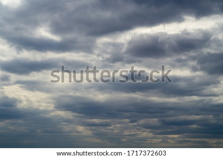 The sky, the sky before the rain. gray clouds Royalty-Free Stock Photo #1717372603