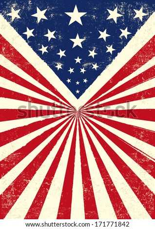 An american vintage flag with a texture
