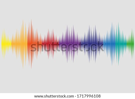 Music Wave Spectrum in nice colorful concept. Editable Clip Art.