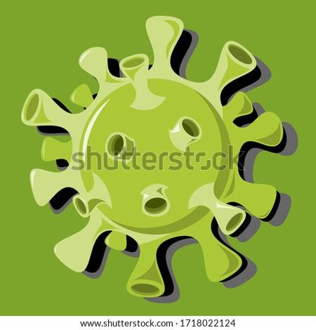 Isolated Flat Vector A Virus, Such as Flu, CoronaVirus  #1718022124