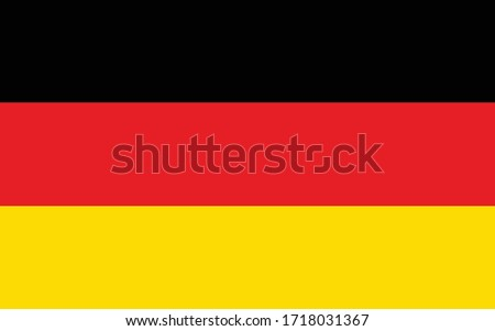 Germany flag vector graphic. Rectangle German flag illustration. Germany country flag is a symbol of freedom, patriotism and independence. #1718031367