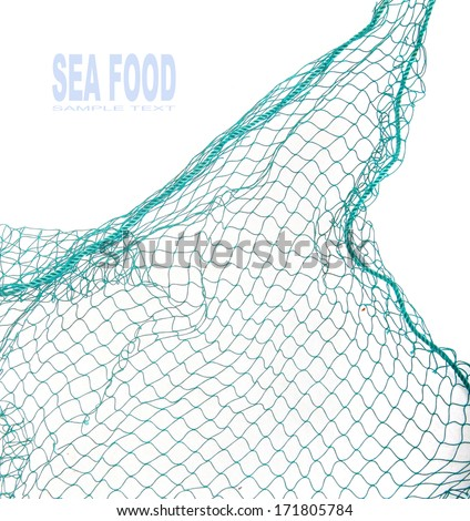 Fishing net with space for your text.  Royalty-Free Stock Photo #171805784