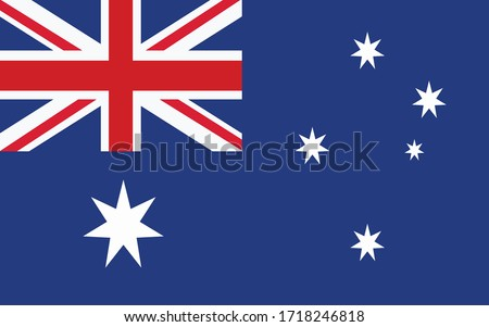 Australia flag vector graphic. Rectangle Australian flag illustration. Australia country flag is a symbol of freedom, patriotism and independence. #1718246818
