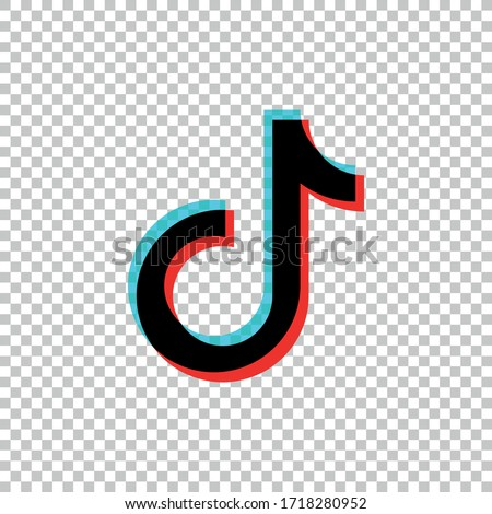 Tik Tok icon.Social media vector.Tik Tok logo design. #1718280952