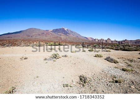 A view of volcano Mount Teide, in Teide National Park, in Tenerife, the highest elevation in Spain #1718343352