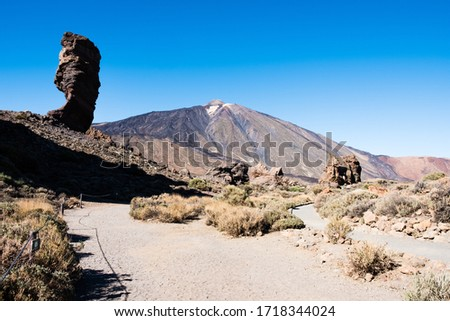 A view of volcano Mount Teide, in Teide National Park, in Tenerife, the highest elevation in Spain #1718344024