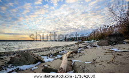 view of the sandy beach, nature series  #171842030