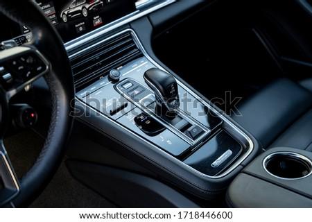Riga / Latvia - April 22 2020: Porsche Panamera 4S cockpit dashboard #1718446600