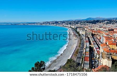 Nice, Promenade Anglais, Cote d'Azur, Provence, France Royalty-Free Stock Photo #1718475106