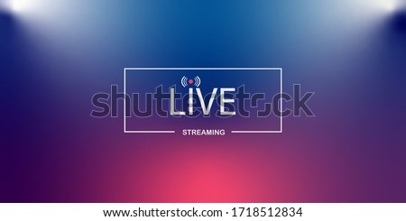 Live streaming background.loading,player, broadcast, website, online radio Royalty-Free Stock Photo #1718512834