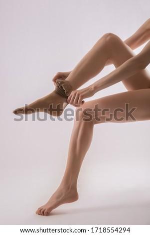 beautiful woman legs in tights #1718554294