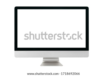 Computer monitor isolated on white background Royalty-Free Stock Photo #1718692066