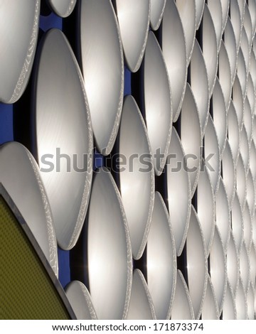 Discs on a modern building #171873374
