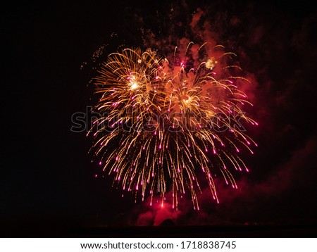 Picture of a large red firework