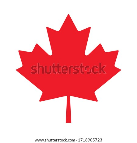 Canada maple leaf vector symbol clip art. Red maple leaf. Maple leaf vector icon. Vector illustration of a maple leaf.  #1718905723