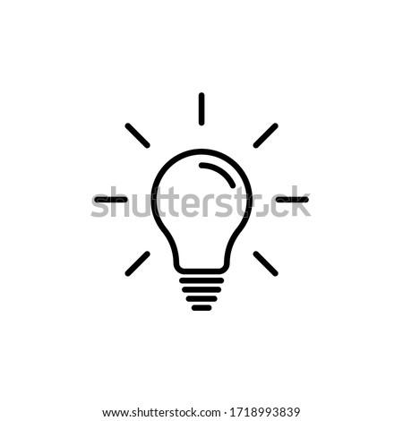 Light bulb line icon vector. Bulb, ideas, Creative icon symbol Royalty-Free Stock Photo #1718993839