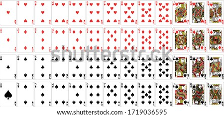 All types of playing cards Royalty-Free Stock Photo #1719036595