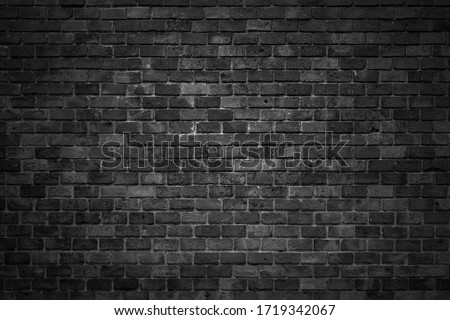 Black brick wall backgrounds, brick room, interior texture, wall background. #1719342067