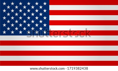 United states flag. Vector illustration.