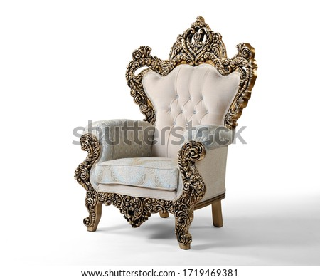 Classic armchair isolated on white background Royalty-Free Stock Photo #1719469381