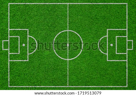 top view soccer field, football field Royalty-Free Stock Photo #1719513079