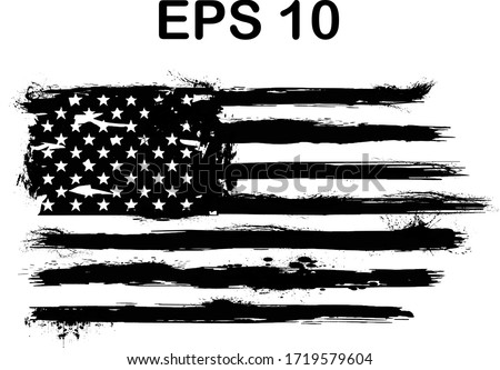 USA Flag. Distressed american flag with splash elements, flag of america, patriot, military flag,	 #1719579604
