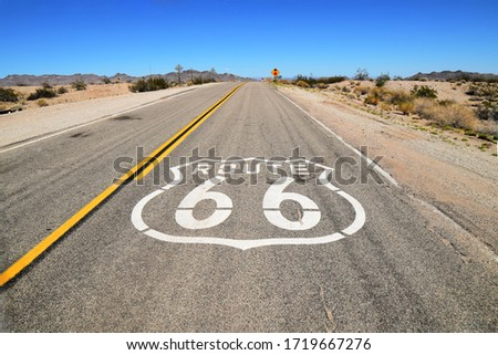 Route 66 Highway American Road Trip Royalty-Free Stock Photo #1719667276