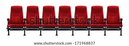 theater seat isolated on white background, movie seat #171968837