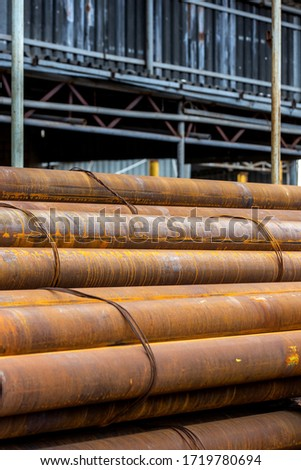 a bunch of iron pipes #1719780694