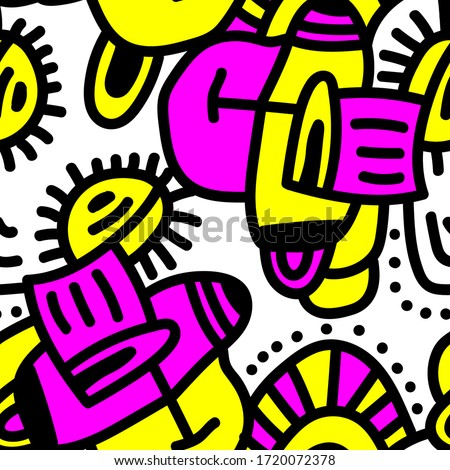 Seamless  backdrop with abstract hand draw pattern. #1720072378
