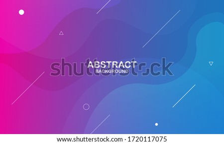 Colorful geometric background. Liquid color background design. Fluid shapes composition. Eps10 vector. Royalty-Free Stock Photo #1720117075