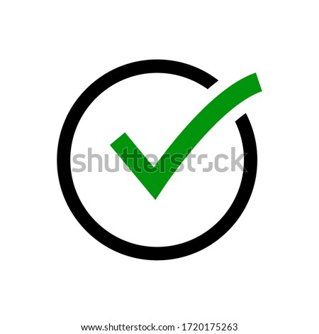 Check mark icon vector on white background