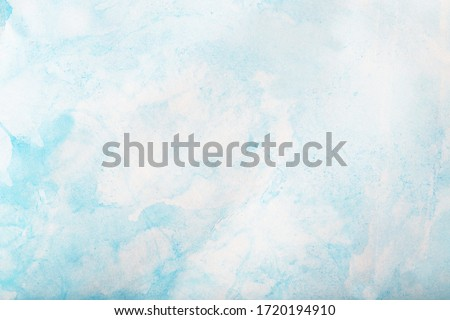 Blue light watercolor background, texture paper Royalty-Free Stock Photo #1720194910