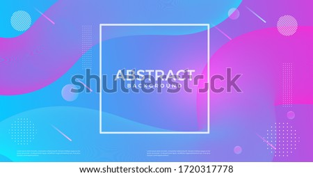 abstract dynamic 3d flow effect background. vector design template for banner, advertising, poster, cover. #1720317778
